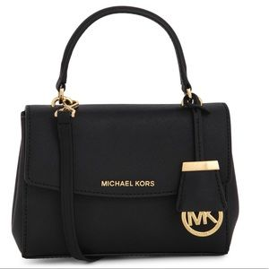 Michael Kors Small Black Ava Crossbody